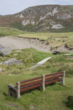 Bench at Glencolumbkille Beach; Donegal Royalty Free Stock Photos