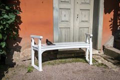 The bench at the Goethe House park in Weimar, Germany Stock Images