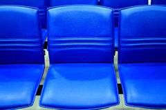 Bench grandstand blue. Stock Images