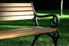 Bench and grass. Banch and grass in the park Royalty Free Stock Images