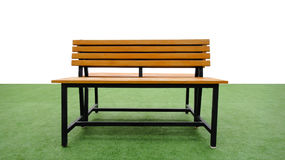 Bench on grass Royalty Free Stock Photography