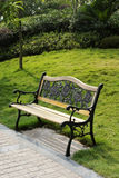 Bench with grassland Stock Photography