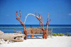 Bench with a great view of Laccadive Sea Royalty Free Stock Photos
