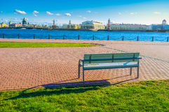 The bench with the great view Royalty Free Stock Image