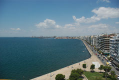 Greece, Thessaloniki, seaside promenade Royalty Free Stock Photo