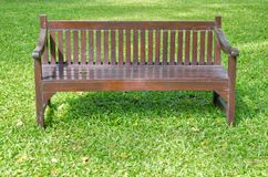 Bench on green grass Royalty Free Stock Photos