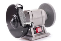 Bench grinder isolated on white. Background Stock Photography