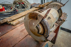 Bench grinder tool Royalty Free Stock Images