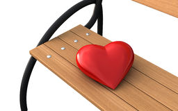 Bench and heart Royalty Free Stock Photo
