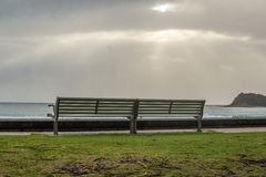 Bench in heaven Royalty Free Stock Image