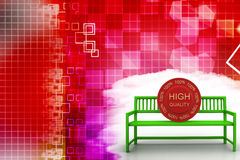 Bench With High Quality Tag Illustration Royalty Free Stock Photos