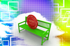 Bench With High Quality Tag Illustration Royalty Free Stock Images