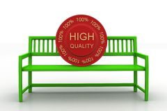 Bench With High Quality Tag Stock Photography
