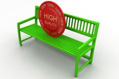 Bench With High Quality Tag Stock Image