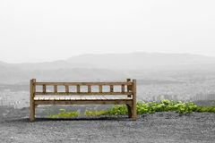 Bench on hill Stock Photos