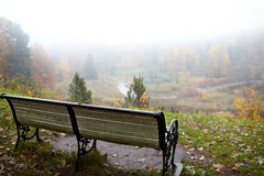 Bench at the hill. Stock Photography