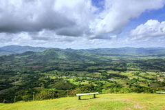 Bench on hill Stock Photography