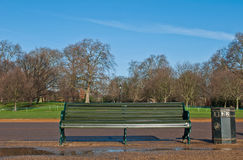 Bench in Hyde Park Royalty Free Stock Image