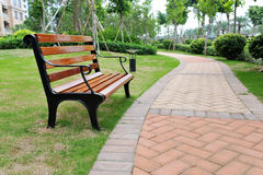 Free Bench In Garden Stock Photography - 14685222