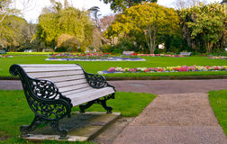 Bench In Garden Royalty Free Stock Image