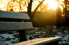 Bench of inspiration Royalty Free Stock Photography