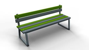 Bench isolated 3d illustration render. Park bench isolated on a white background 3d illustration render Royalty Free Stock Image