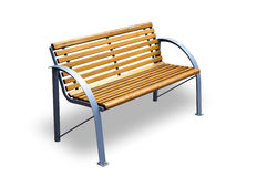 Bench isolated with shadow Royalty Free Stock Photos