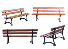 Bench isolated on white Royalty Free Stock Photo