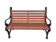 Bench isolation. Wood brown bench isolation on white background Stock Photography