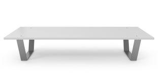 Bench isolato su bianco Illustrazione di Stock