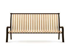 Bench isolato su priorità bassa bianca Illustrazione di Stock