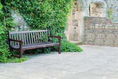 Bench with ivy Royalty Free Stock Photos
