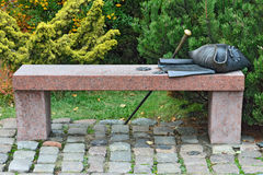 Bench Kant. Kaliningrad (Koenigsberg before 1946), Russia Royalty Free Stock Photography