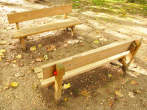 Bench for kids royalty free stock photography