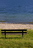Bench at the lake Royalty Free Stock Photography