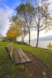 Bench by the lake Royalty Free Stock Photography
