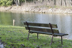 Bench on the lake Royalty Free Stock Photography