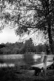 Bench of the lake Royalty Free Stock Images