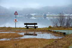 Bench by the lake Royalty Free Stock Photos