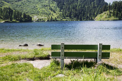 Bench on the Lake Royalty Free Stock Photos