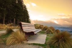 Bench on Landscape Royalty Free Stock Images