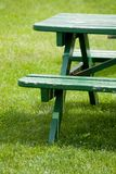 Bench and lawn Royalty Free Stock Photography