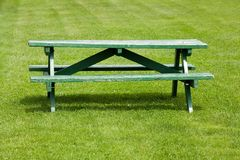 Bench and lawn Royalty Free Stock Image