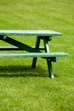 Bench and lawn Stock Image