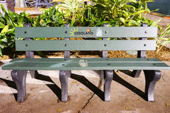 A bench in legoland made by recycle material Royalty Free Stock Photography