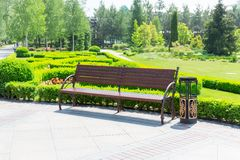 Bench in the local park Royalty Free Stock Photo