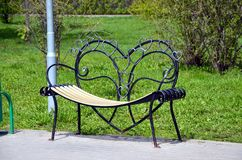 Bench of lovers Royalty Free Stock Photo
