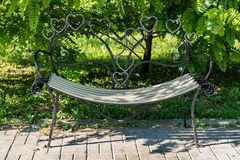 Bench for lovers Royalty Free Stock Photography