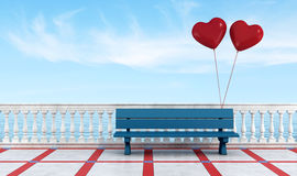 Bench of lovers Royalty Free Stock Photography
