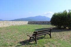 Bench in the Medici Fortress Royalty Free Stock Images